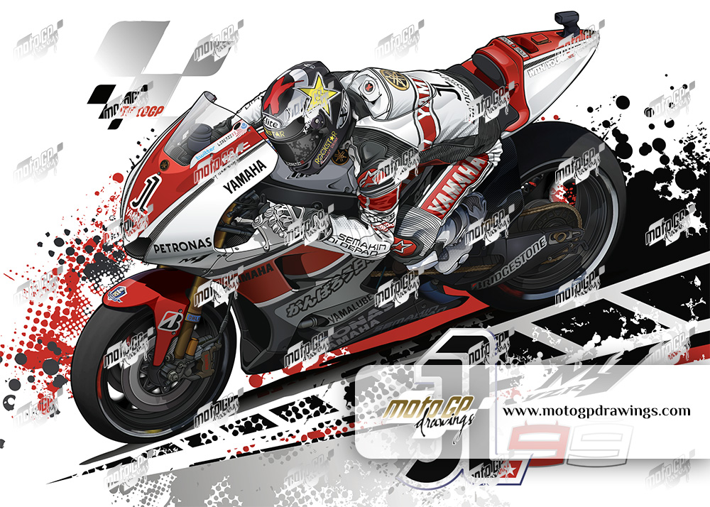 99 Jorge Lorenzo Yamaha Team 50th Anniversary Couleurs 01
